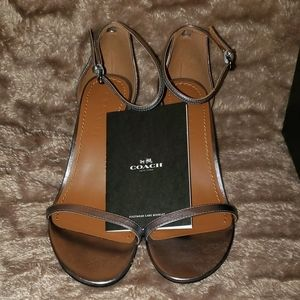 COACH Leather Sandal